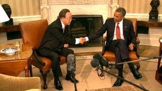 Download President Obama Meets with UN Secretary General Ban Ki-moon Video