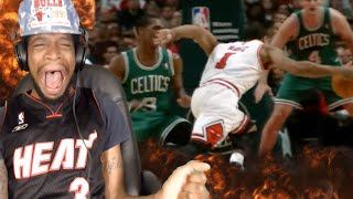 Download HE JUST SHOOK MY ANKLES!! DERRICK ROSE TOP 10 CROSSOVERS REACTION!! Video