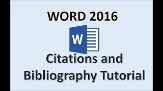 Download Word 2016 - Create Citation and Bibliography How to Tutorial in Microsoft Office 365 with Windows 10 Video