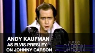 Download Andy Kaufman Impersonates Elvis Presley and Foreign Man on Johnny Carson's Tonight Show Video