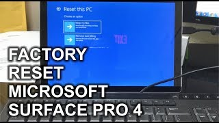 factory reset microsoft surface tablet