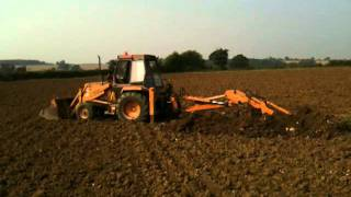 Download Field drainage repairs on clay soil on organic farm Video