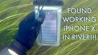 Download I Found an iPhone X Underwater in the River - Returned (2 Other Items In Pouch - BEST REACTION!!!) Video