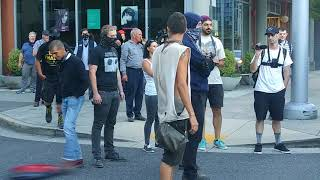 Download Antifa follows Patriot prayer 5 blocks and then trys to punk copwatchers Video