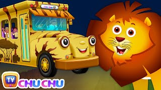 Download Wheels On The Bus | Kenya Jungle Book Wildlife Safari | Wild Animals and Animal Sounds | ChuChu TV Video