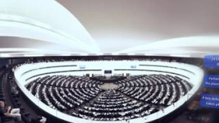 Download Virtual reality tour of the European Parliament Video