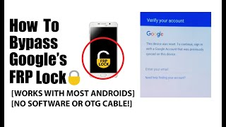 Download How to Bypass the Google FRP lock (WITHOUT SOFTWARE OR OTG CABLE) Video