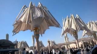 Download Madina Sharif Roza Mubarak - GUMBAD E KHIZRA - masjid nabawi umbrella Video