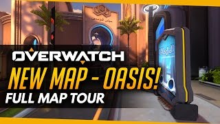 Download Overwatch | NEW MAP OASIS - Full Map Tour! Video