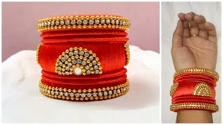 Download Latest silk thread bangle making at home I Easy and Simple bangles I Creative Diaries Video