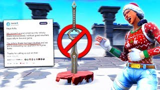 Download Fortnite but the Sword Is *BANNED* lol Video