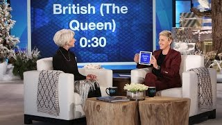 Download Helen Mirren and Ellen Play 'Heads Up!' Video