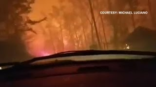 Download Watch: Man records hellish wildfire escape Video