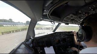 Download Landing runway 06 Rotterdam The Hague Airport (RTM EHRD) Video