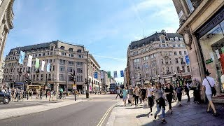 Download London Walk on Oxford Street from Marble Arch to Tottenham Court Road Video