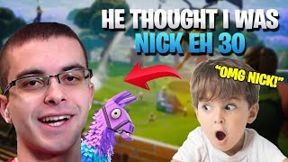 Download I Convinced A Kid I Was NickEh30 (Fortnite Battle Royale) Video