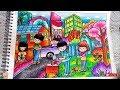 Download Menjaga Kebersihan - Cara menggambar dan mewarnai dengan gradasi warna oil pastel crayon Video