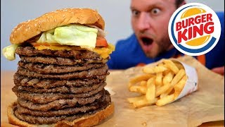 Download Burger King's BIGGEST Whopper Ever Challenge! Video