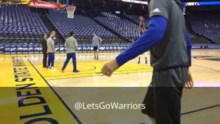 Download Kevin Durant (rehab) shooting around + one dunk, pregame Warriors (57-14) vs Sacramento Kings Video