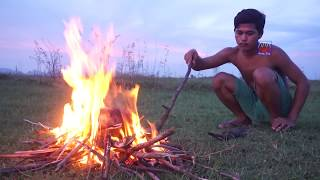 Download Primitive Technology : Awesome Burn Fish in Watermelon, Steamed Fish in Watermelon Video