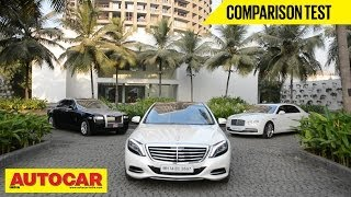 Download Mercedes-Benz S-Class Vs Rolls-Royce Ghost Vs Bentley Flying Spur | Comparison Test | Autocar India Video