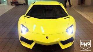 Download GMG GARAGE Lamborghini Aventador Yellow Video