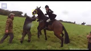 Download Woman Uses Horse To Charge People - Horse Is Confused, Hurt & Scared Video