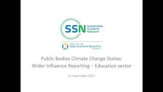 Download Scottish PBCCD Reporting Training - Wider Influence Webinar with SSN Video