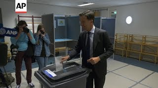 Download Dutch Prime Minister Rutte casts EU ballot Video