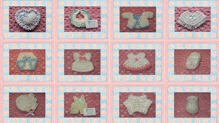 Download Recuerdos para Baby Shower o Bautizo elaborados a mano (crochet) Video