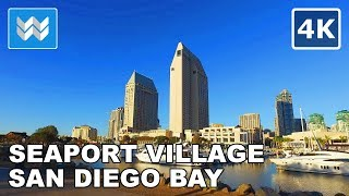 Download Walking around the Shoreline of San Diego Bay in Downtown San Diego, California 【4K】 Video
