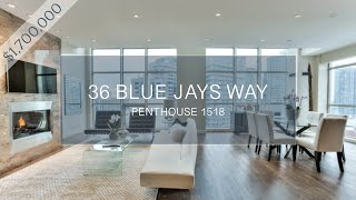Download 36 Blue Jays Way - SOHO Hotel Toronto, Penthouse 1518 - Luxury Real Estate Video