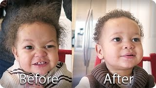Download BABY'S FIRST HAIRCUT!!! 👶🏽✂️ Video