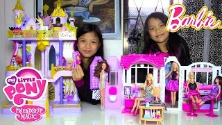 Download Barbie Doll Glam Getaway House My Little Pony (MLP) Cutie Mark Magic Canterlot Castle Video