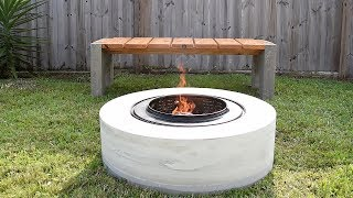 Download Making A Concrete FIRE PIT | from a washing machine drum Video