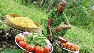 Download Village Food / Cooking 5kg Shell Macaroni Pasta in my Village by Grandma Video
