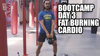 Download KB Bootcamp Day 3 - Full Home Fat Burning Workout Video