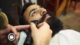 Download First Time Beard Trim at the Barbershop Video