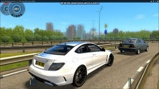 Download City Car Driving Mercedes-Benz C63 AMG Coupe Black Series [1080p] Video