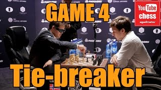 Download Magnus Carlsen vs Sergey Karjakin || World Chess Championship tie breaker || GAME 4 Video