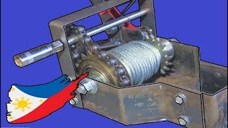 Download Hand/Drill Crank Winch With Bicycle Parts Video