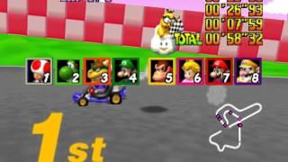 Download [TAS] Mario Kart 64 - Star Cup - 1P, GP, 150cc in 2'45″92, twitch.tv/weatherton Video
