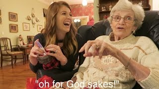 Download Grandma's HILARIOUS Reaction to Pregnancy Reveal! // Family Pregnancy Reactions! Video