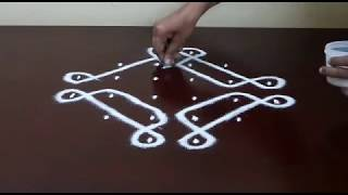 Download 6 TO 2 STRAIGHT DOTS/BEGINNERS KOLAM/EASY MUGGULU/ Video