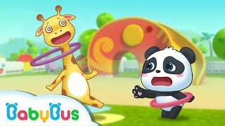 Download Baby Panda's Hula Hoop Match | BabyBus Sport Meeting | Top Songs & Animation | BabyBus Video