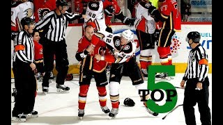 Download Top Five NHL Hockey Fights of January 2018 Video