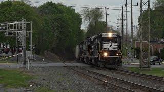 Download Two Trains Meet - Vehicle Breaks Crossing Gate Video