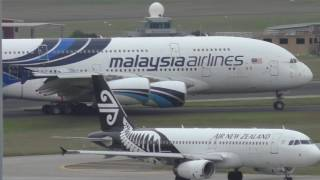 Download Malaysia Airlines A380-841 visits Melbourne April 2017 Video