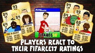 Download FIFA 17 RATINGS - FOOTBALLERS REACT! (Zlatan, CR7, Messi, Muller, Rooney, Luiz, Akinfenwa parody) Video