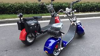 Download EEC COC approved citycoco electric scooter harley Road legal big wheel Rooder Video